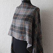 Аксессуары handmade. Livemaster - original item Plaid tweed scarf men`s women`s grey. Handmade.