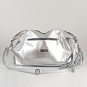 Сумки и аксессуары handmade. Livemaster - original item Silver Leather Crossbody Shoulder Bag silver gold. Handmade.