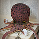 octopus burgundy, Stuffed Toys, Tver,  Фото №1