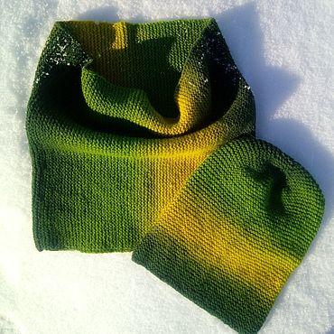 Аксессуары handmade. Livemaster - original item The set Forest (in 1oborot Snood cap). Handmade.
