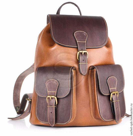 """Рюкзаки ручной работы. Ярмарка Мастеров - ручная работа. Купить Кожаный рюкзак """"Классик 2"""" коричневый. Handmade. Коричневый"""