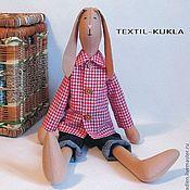Куклы и игрушки handmade. Livemaster - original item Hare textile(60cm) - toy boy. Handmade.