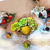 """Цветы и флористика ручной работы. Ярмарка Мастеров - ручная работа """"Десерт для прекрасных Дам"""" - интерьерная композиция. Handmade."""