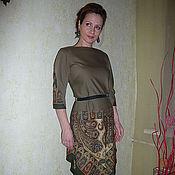 """Одежда ручной работы. Ярмарка Мастеров - ручная работа Платье """"Хаки"""". Handmade."""