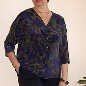 Одежда ручной работы. Ярмарка Мастеров - ручная работа Рубашка -Блузон натуральный шелк. Handmade.