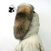 Аксессуары handmade. Livemaster - original item The edge of the hood from raccoon fur EXT-13. Handmade.