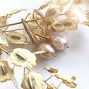 Украшения ручной работы. Ярмарка Мастеров - ручная работа Жемчужные Серьги ручной работы , радированные. Handmade.