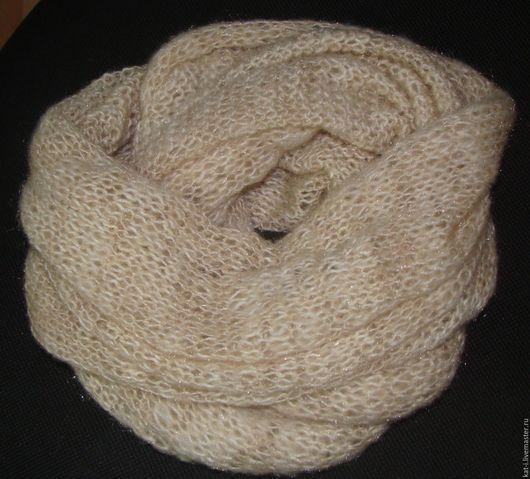 Шарфы и шарфики ручной работы. Ярмарка Мастеров - ручная работа. Купить Бежевый снуд. Handmade. Бежевый, снуд спицами