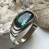 Украшения handmade. Livemaster - original item Beautiful Emerald (3,09 ct) handmade silver Vedic ring. Handmade.