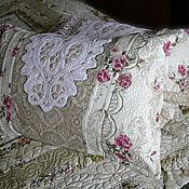 Для дома и интерьера ручной работы. Ярмарка Мастеров - ручная работа Кружева и шебби шик подушки комплект. Handmade.