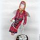 """Интерьерная кукла """"Ангел дома"""", грунтованный текстиль, статуэтка"""
