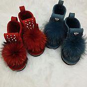Обувь ручной работы. Ярмарка Мастеров - ручная работа Стильные валенки. Handmade.