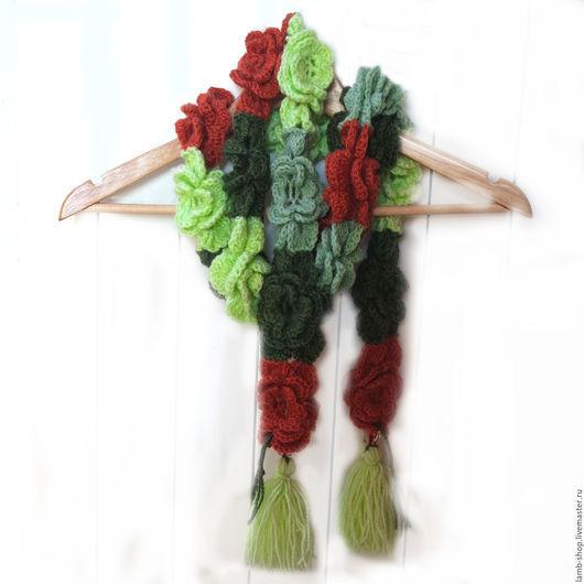 Шарфы и шарфики ручной работы. Ярмарка Мастеров - ручная работа. Купить Шарф Цветочный-Цветочный. Handmade. Разноцветный, бохо-стиль