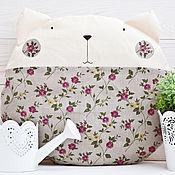 Для дома и интерьера ручной работы. Ярмарка Мастеров - ручная работа Серая подушка декоративная кот, декор в детскую, подарок, Pillow. Handmade.