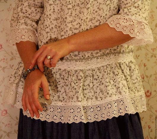 """Блузки ручной работы. Ярмарка Мастеров - ручная работа. Купить Блузка льняная белая """"Снежность"""". Handmade. Белый, лен"""