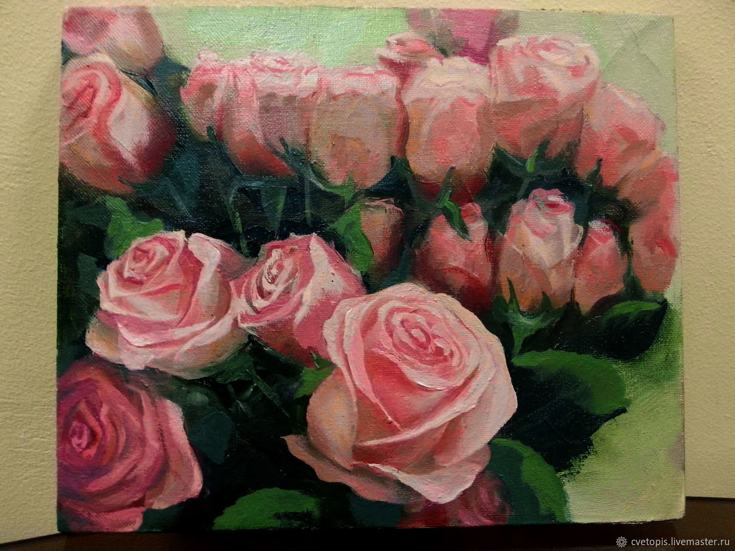 Oil painting soft pink flowers shop online on livemaster with flower paintings handmade livemaster handmade buy oil painting soft pink flowers mightylinksfo