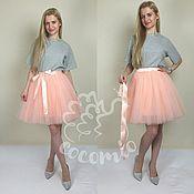 Одежда ручной работы. Ярмарка Мастеров - ручная работа Пышная юбка-пачка 7 слоев персиковая. Handmade.