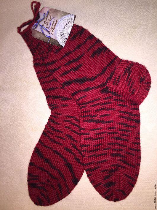 Носки, Чулки ручной работы. Ярмарка Мастеров - ручная работа. Купить Вязанные носки. Handmade. Комбинированный, вязание спицами, носочки