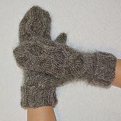 Аксессуары handmade. Livemaster - original item Down mittens knitted of goat down lapel. Handmade.