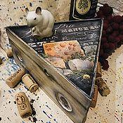Для дома и интерьера ручной работы. Ярмарка Мастеров - ручная работа Сыр-бор (шкатулка-сырница). Handmade.