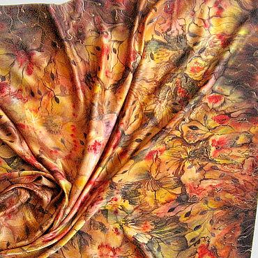 """Аксессуары ручной работы. Ярмарка Мастеров - ручная работа """"Орхидеи"""" ручная роспись на платке из натурального шелка Петербург. Handmade."""