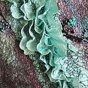 """Одежда ручной работы. Ярмарка Мастеров - ручная работа Жакет шерстяной валяный """"Бирюза в серебре"""". Заказ. Продан. Handmade."""
