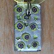 Колье ручной работы. Ярмарка Мастеров - ручная работа Желтое колье из муранского стекла. Handmade.