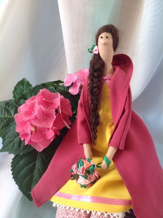 Куклы Тильды ручной работы. Ярмарка Мастеров - ручная работа. Купить Апрельская штучка. Handmade. Фуксия, 8 марта подарок
