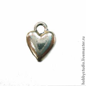 Сердечко (никель) Размер: 10*14мм.