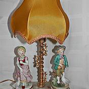 Винтаж ручной работы. Ярмарка Мастеров - ручная работа Винтажная  фарфоровая лампа. Handmade.