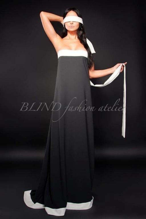 Платья ручной работы. Ярмарка Мастеров - ручная работа. Купить Платье из крепа 00001. Handmade. Черный, платье, blind