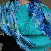 """Аксессуары ручной работы. Ярмарка Мастеров - ручная работа """" Мечта""""шарф-снуд нуновойлок. Handmade."""