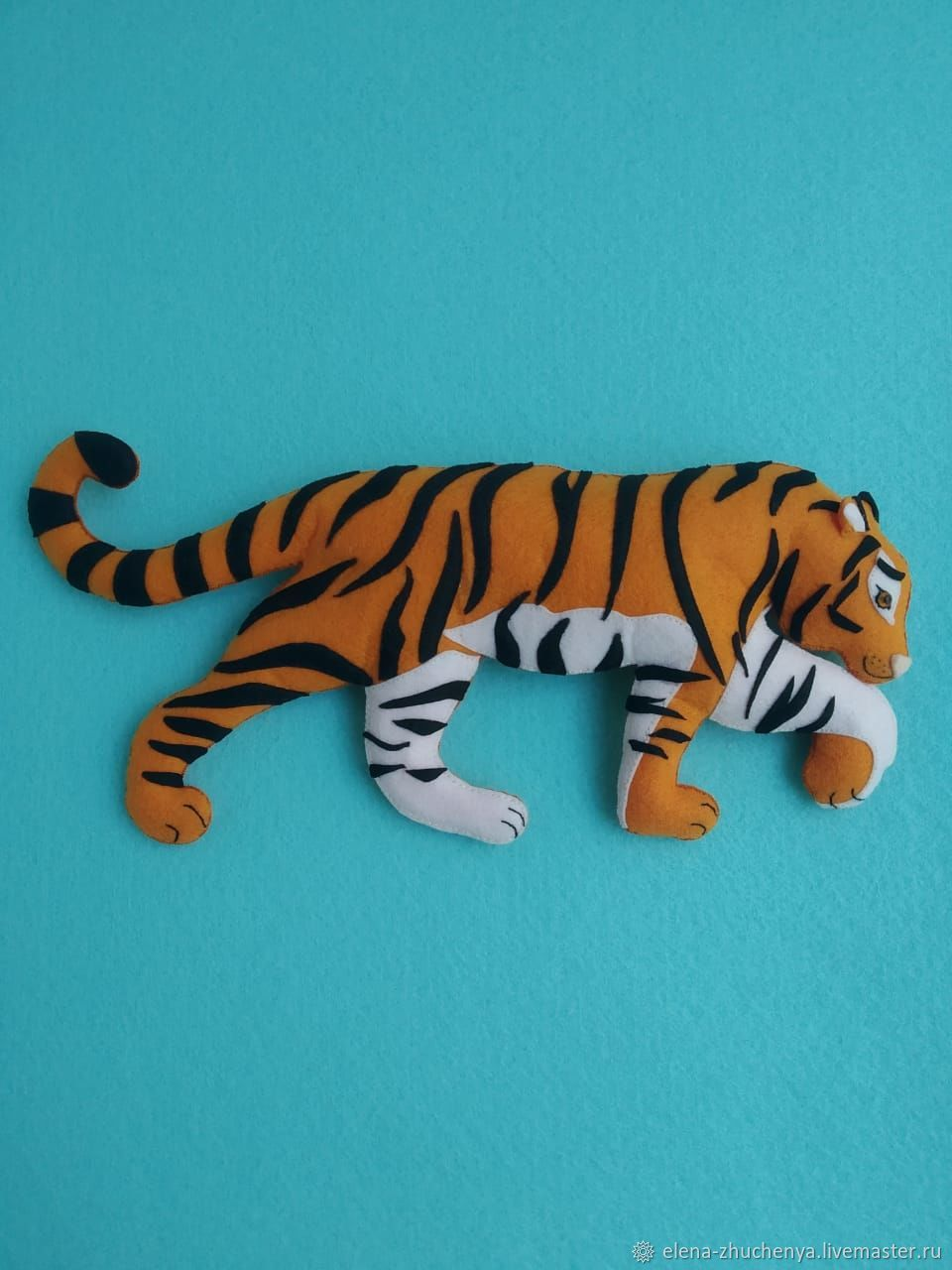 Тигр и лев из фетра, Мягкие игрушки, Санкт-Петербург,  Фото №1