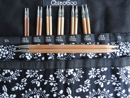 Вязание ручной работы. Ярмарка Мастеров - ручная работа. Купить Набор  Спиц ChiaoGoo SPIN Bamboo Interchangeables Small 2,75-5мм. Handmade.