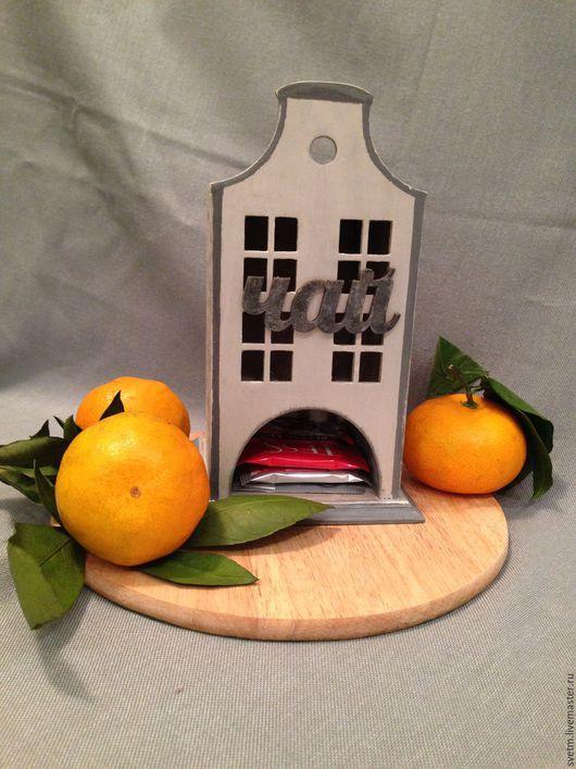Кухня ручной работы. Ярмарка Мастеров - ручная работа. Купить Чайный домик серебристо-серый(декупаж). Handmade. Серый, чайный домик