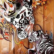 Картины и панно handmade. Livemaster - original item Stained glass painting