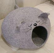 Для домашних животных, ручной работы. Ярмарка Мастеров - ручная работа КотоМышь (домик для кошки). Handmade.