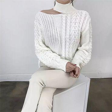 Одежда ручной работы. Ярмарка Мастеров - ручная работа Ассиметричный свитер «Белоснежка». Handmade.