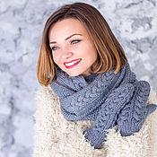 """Аксессуары ручной работы. Ярмарка Мастеров - ручная работа """"Амелия"""" комплект вязаный женский, шарф снуд вязаный и варежки вязаные. Handmade."""