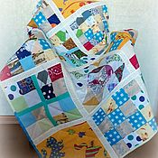 Для дома и интерьера handmade. Livemaster - original item Children`s Patchwork Quilt Cat House with Cat Toy. Handmade.