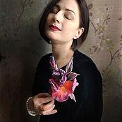 Украшения handmade. Livemaster - original item Iris silk brooch