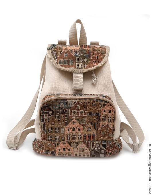 """Рюкзаки ручной работы. Ярмарка Мастеров - ручная работа. Купить Рюкзак Каролина """"Гобеленовая"""". Handmade. Бежевый, рюкзак для девушки, восток"""
