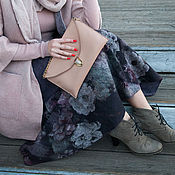 Одежда handmade. Livemaster - original item Felted skirt Lilac evening. Handmade.