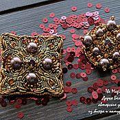 """Украшения ручной работы. Ярмарка Мастеров - ручная работа Комплект брошей """"Burgundy"""". Handmade."""