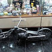 Для дома и интерьера ручной работы. Ярмарка Мастеров - ручная работа мотоцикл custom bike чёпер байк скульптура для интерьера. Handmade.