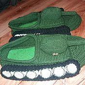 Обувь ручной работы. Ярмарка Мастеров - ручная работа Тапки-танки. Handmade.