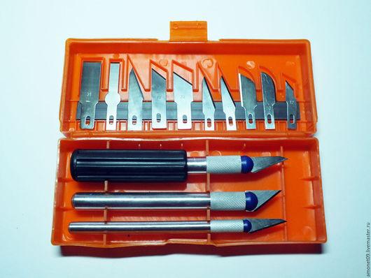 Другие виды рукоделия ручной работы. Ярмарка Мастеров - ручная работа. Купить Набор ножей для творчества. Handmade. Оранжевый, лезвия