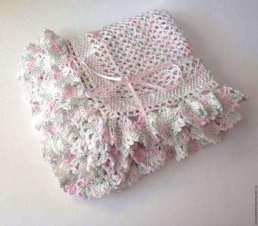 """Пледы и одеяла ручной работы. Ярмарка Мастеров - ручная работа. Купить Плед """"Летний ветерок"""" (для новорожденных, детский плед). Handmade."""