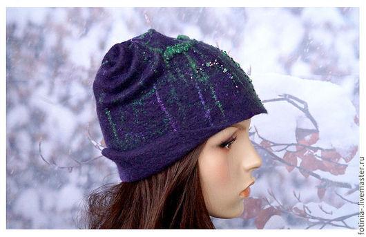 Шапки ручной работы. Ярмарка Мастеров - ручная работа. Купить шапка шлем валяная СПУТНИЦА МОЛОДОСТИ. Handmade. Разноцветный