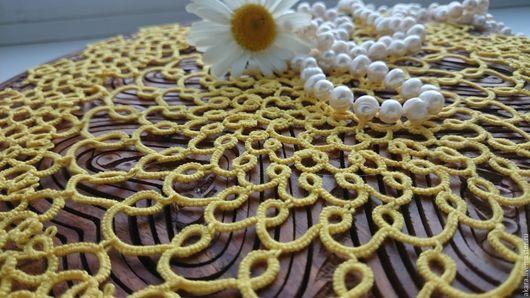 """Текстиль, ковры ручной работы. Ярмарка Мастеров - ручная работа. Купить салфетка """"Солнечная"""". Handmade. Желтый, подарок на 8 марта"""